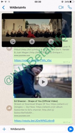 WhatsApp YouTube-integratie
