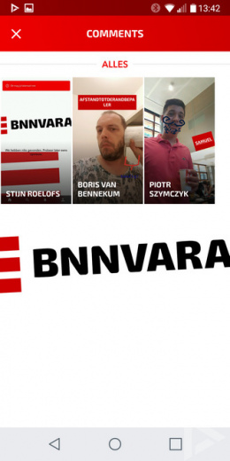 BNNVARA app reacties