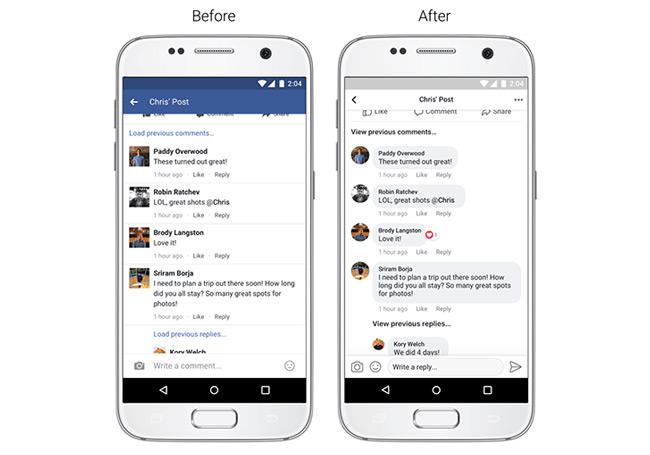 Facebook app tijdlijn