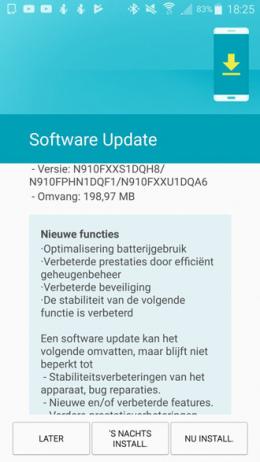 Galaxy Note 4 beveiligingsupdate augustus 2017