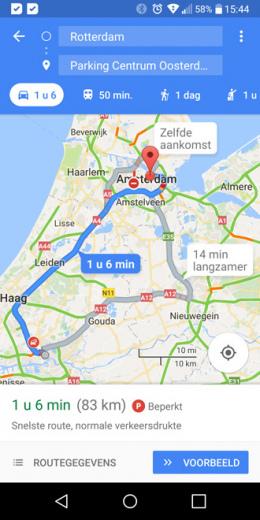Google Maps parkeerhulp