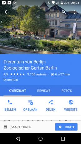 Google Maps tabbladen