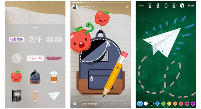 Instagram school-stickers