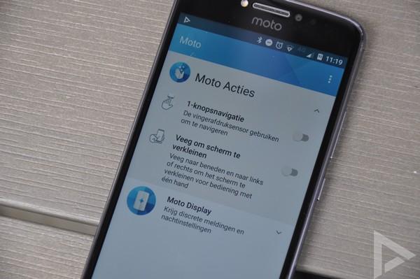 Moto E4 Plus Moto Acties
