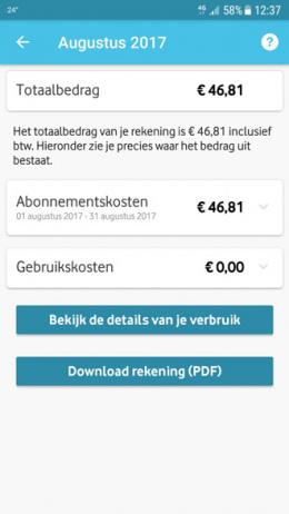 My Vodafone factuur
