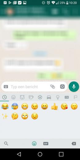 WhatsApp emoji zoeken