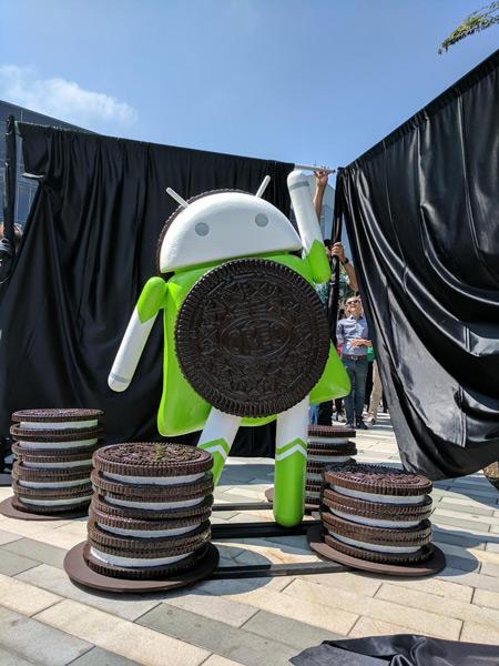 Android Oreo Standbeeld