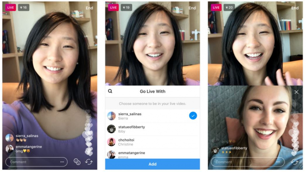Instagram livestream samen