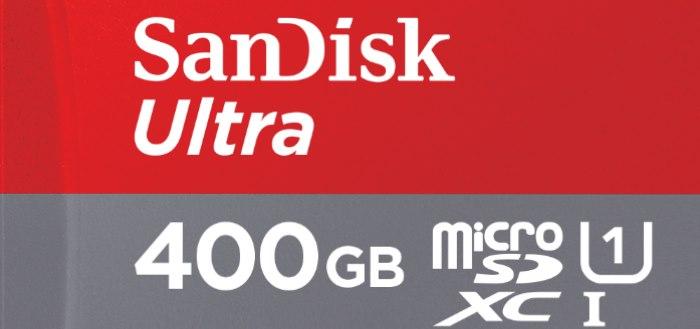 SanDisk introduceert MicroSD-kaart met 400GB opslagcapaciteit