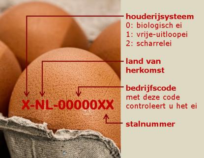 Welke eieren zijn besmet ei codes
