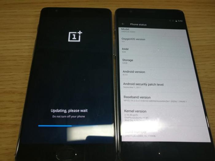 Android Oreo OnePlus