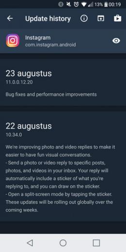 Changes app