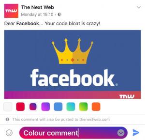 Facebook kleuren reactie
