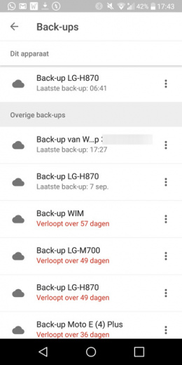Google Drive back-up