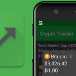 Crypto Tracker toont alle koersen van cryptomunten zoals Bitcoin