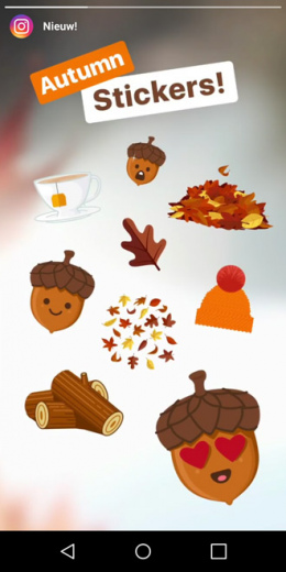 instagram herfst-stickers
