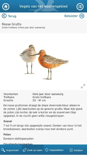 Wadvogels app