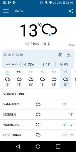 KNMI weer-app