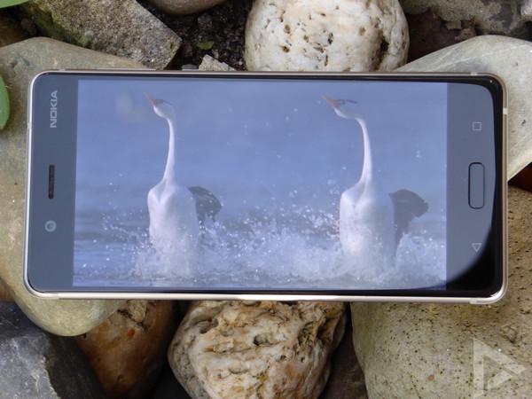Nokia 8 beeldscherm