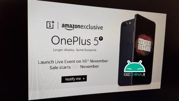 OnePlus 5T 16 november