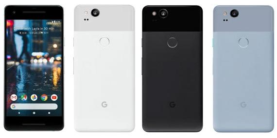 Pixel 2 XL kleuren