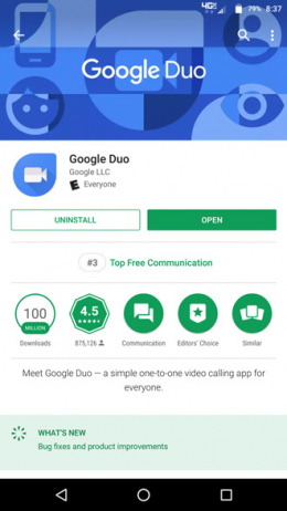 Google Play Store app chart