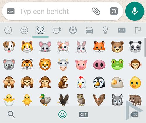 WhatsApp emoji vormgeving