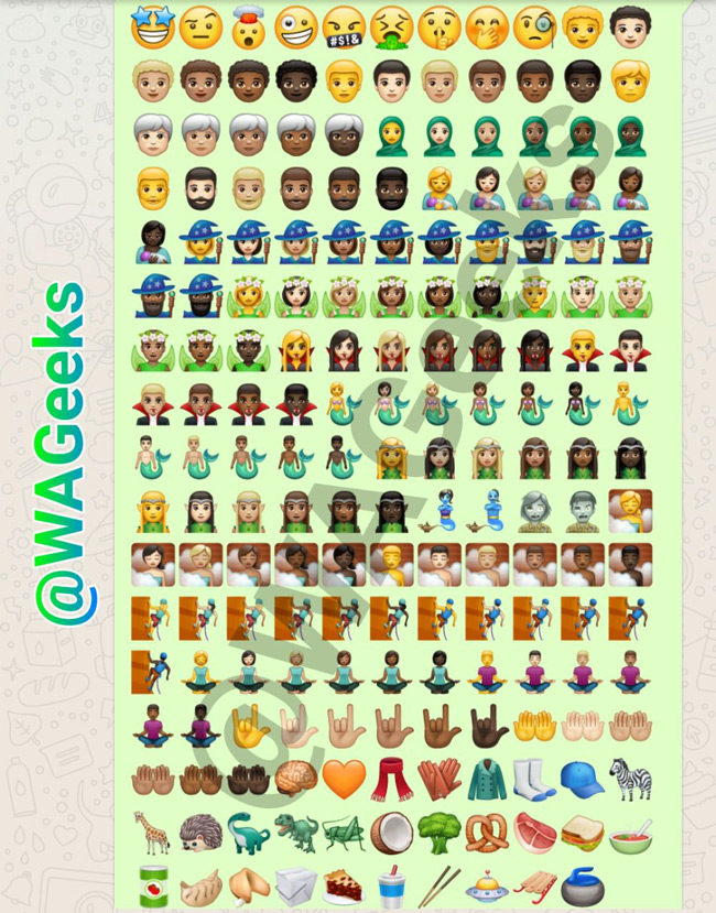 WhatsApp Unicode 10 emoji