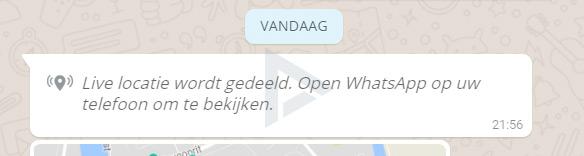 Locatie delen WhatsApp desktop web