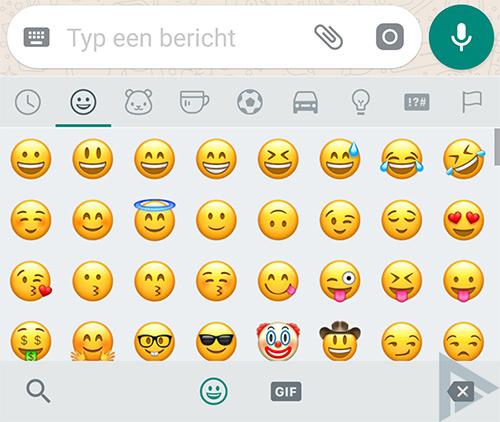 WhatsApp emoji 2017