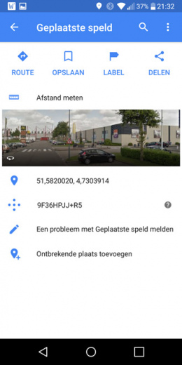 Google Maps plus icoon