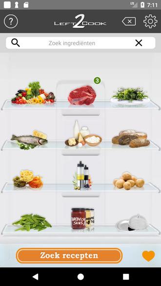 recepten ingredienten invullen