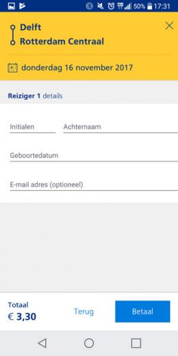 NS Reisplanner Xtra e-ticket kopen