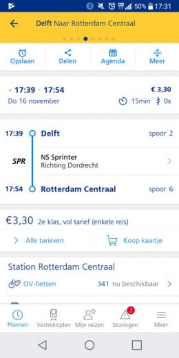 NS Reisplanner Xtra e-tickets kopen