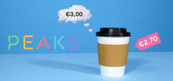 Peaks: nieuwe app van de Rabobank laat je beleggen met wisselgeld