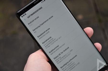 Samsung Galaxy Note 8 update