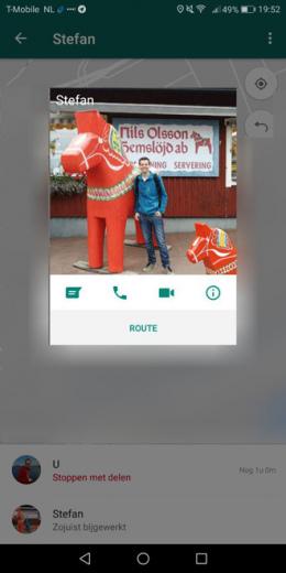 WhatsApp 2.17.412 locatie route