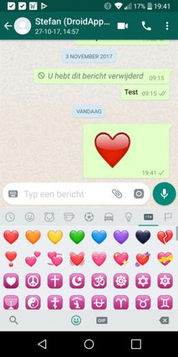 WhatsApp groot hart oud
