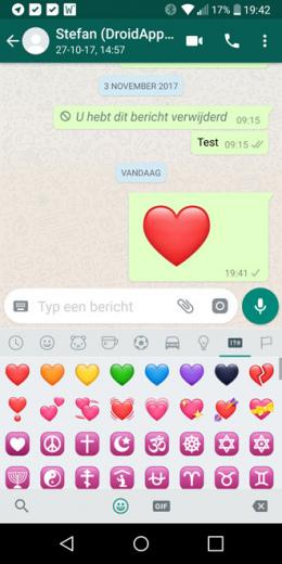 WhatsApp groot hart nieuw