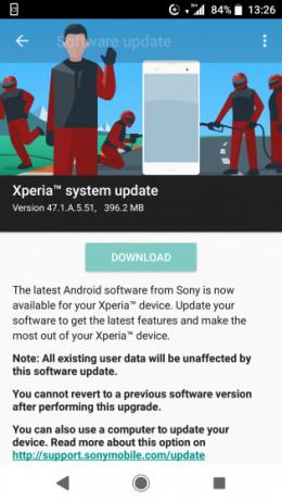 Xperia XZ1 november update