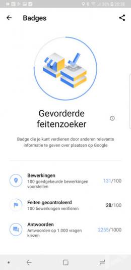 Google Maps badges
