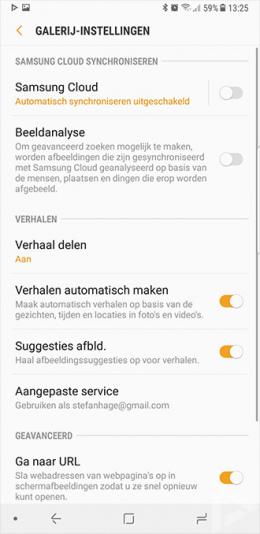 Samsung Galaxy Note 8 galerij