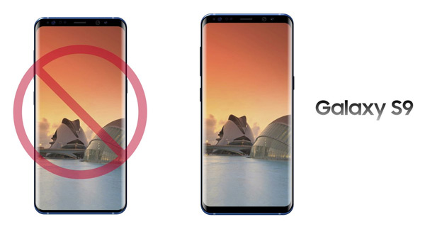 Samsung Galaxy S9 schermranden