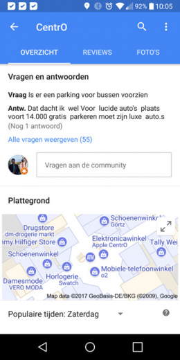 Google Maps 9.68 plattegrond