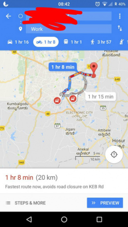 Google Maps Motor Navigatie