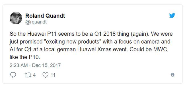 Huawei P11 MWC 2018