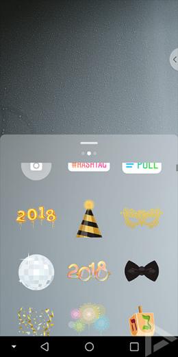 Instagram 2018 nieuwjaar stickers