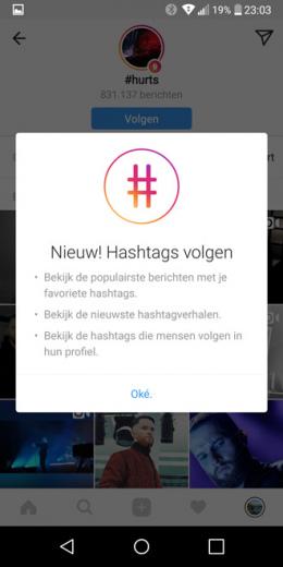 Instagram hashtags volgen