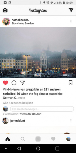 Instagram inline comments