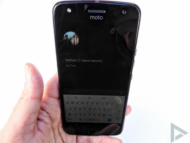 Moto X4 vergrendelscherm